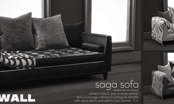 Fourth Wall - Saga Sofa. PG L$499 each | Adult L$699 each | Fatpack PG L$999 | Adult L$1,299.