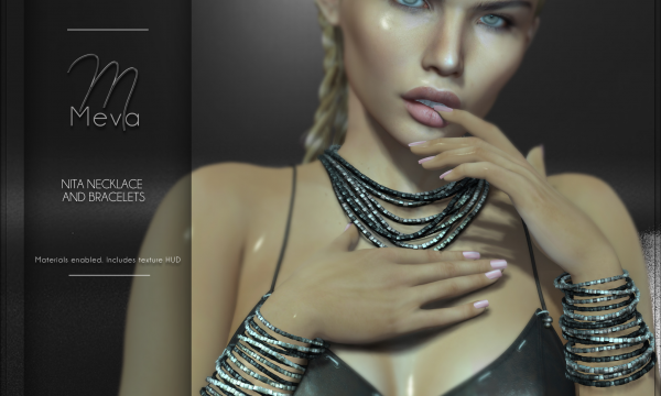 Meva - Nita Bracelets & Necklace. L$240 - L$260.