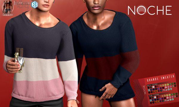 NOCHE - Grande Sweater. Individual L$249 | Fatpack L$1199 Demo Available ★.