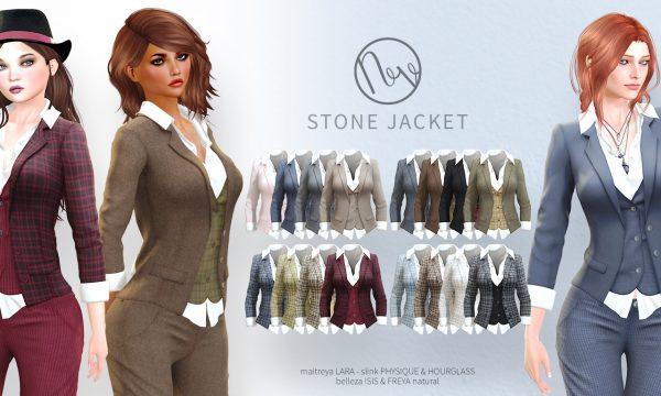 Neve - Tomboy V2 Pant & Stone Jacket. Minipacks L$200 - L$250 each | Fatpacks L$600 each Demo Available ★.