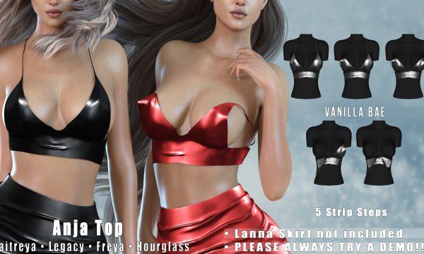 Vanilla Bae - Anja Top. Mini Packs L$499 | Fatpack L$999 Demo Available.