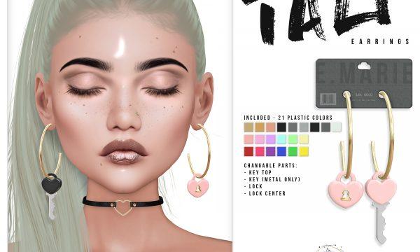 e.marie - Tali Earrings. Individual L$250 each.