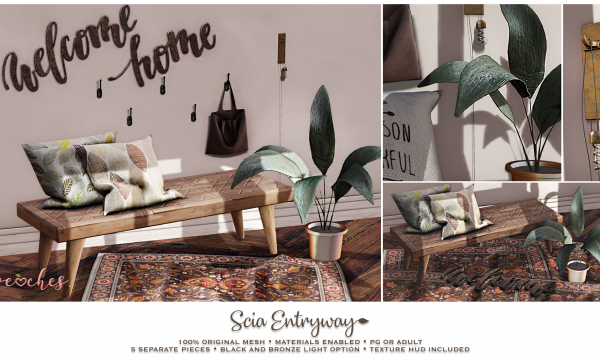 .peaches. - Scia Entryway. PG L$199 | Adult L$249.