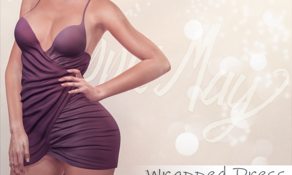 Apple May - Wrapped Dress. Individual L$225 | Fatpack L$990. Demo Available.