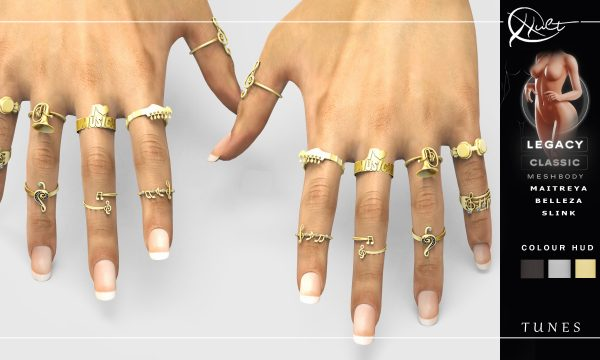 Cult - Tunes Rings. L$269. Demo Available ★.