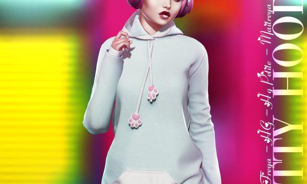 CandyDoll - Kitty Hoodie Estrellas. Individual L$279 each | Minipacks L$989 | Fatpack L$1989.