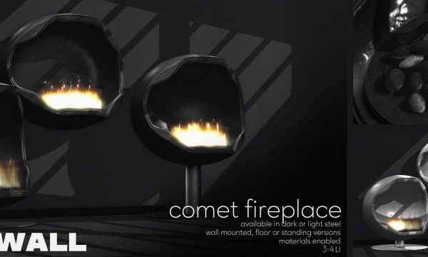 Fourth Wall - Comet Fireplace. L$320 each | Fatpack L$799.