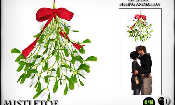Heart Garden Centre -  Essential Poinsettia & Kissing Mistletoe & Illuminated Snow laden Sparkle Pines. L$299 - L$399.