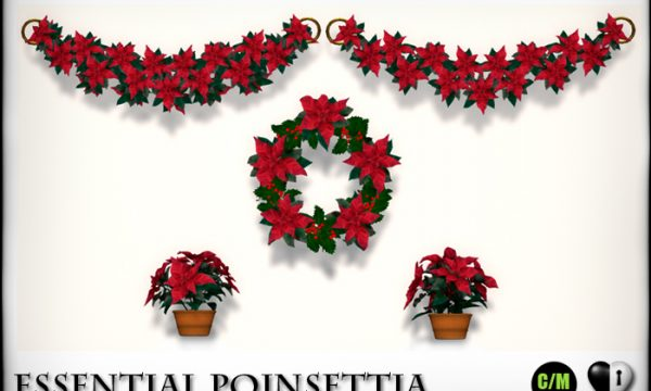 Heart Garden Centre -  Essential Poinsettia & Kissing Mistletoe & Illuminated Snow laden Sparkle Pines. L$299 - L$399.