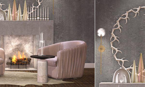 Loft & Aria - Eira Vignette . PG L$2,650, Adult L$2,940.  Eira Swirl Chair With Pillows (PG) L$400, Eira Swirl Chair With Pillows (Adult) L$500. Eira Swirl Chair (PG) L$400. Eira Swirl Chair (Adult) L$500.  Fireplace L$250. Deco items L$150 - L$250.