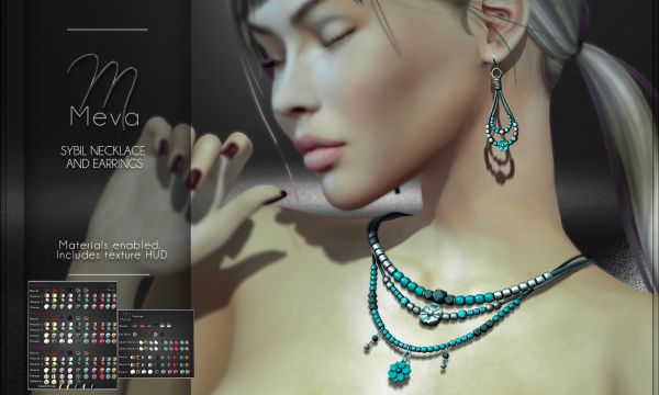 Meva - Sibyl Necklace and Earrings. L$290.