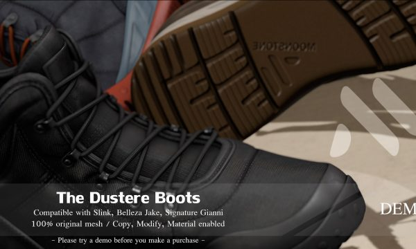 [Moonstone] - The Dustere Boots. Individual L$299 each. Demo Available.