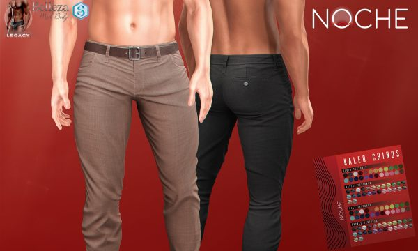 NOCHE - Kaleb Chinos. Individual L$199 each | Fatpack L$1,199. Demo Available ★.