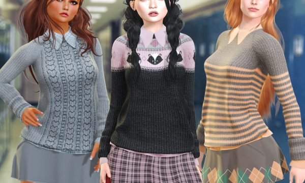 Neve - Sharp Top & Edge Skirt. Minipacks L$200 each | Fatpacks L$600 each. Demo Available.
