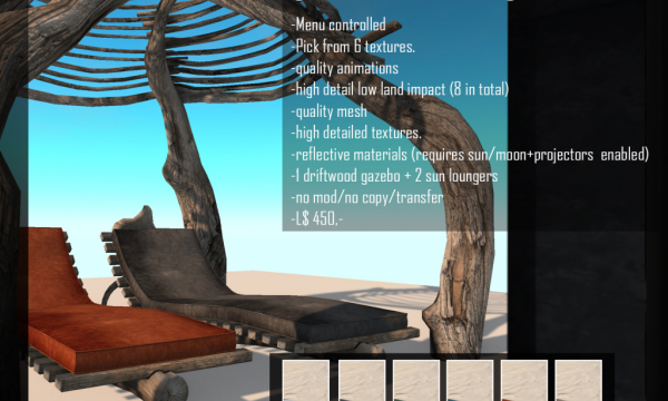 ReBourne - Driftwood Gazebo. L$450.