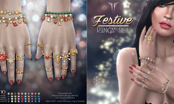 RealEvil Industries - Festive Rings Set. L$499. Demo Available ★.