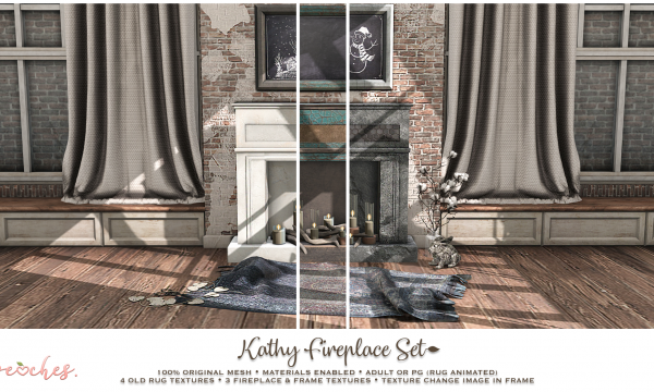 .peaches. - Kathy Fireplace Set. PG L$225 | Adult L$279.