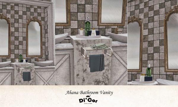 Di'Cor - Ahana Bathroom Vanity. L$499 each.