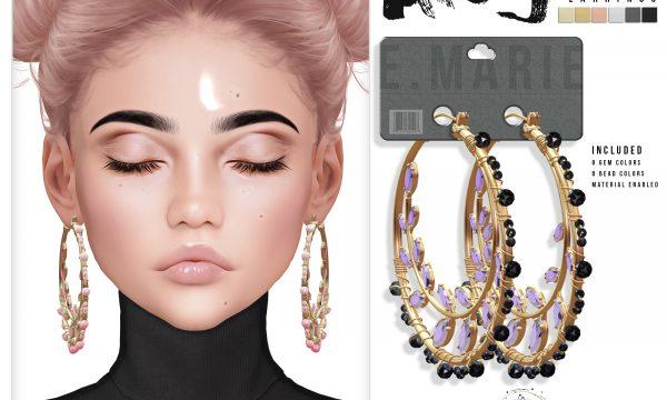 e.marie - Allegra Earrings. Individual L$250 each.