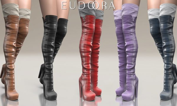 Eudora3D - Raven Boots. Minipacks L$399 each | Fatpack L$999. Demo Available ★.