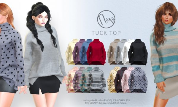 Neve - Tuck Top & Snip Skirt. Minipacks L$200 each | Fatpacks L$600 each. Demo Available ★.