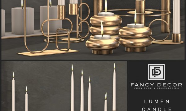 Fancy Decor - Lumen Candles. Individual L$125 each | Fatpack L$650.
