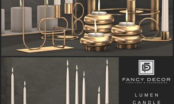 Fancy Decor - Lumen Candles. Individual L$125 each | Fatpack L$650.