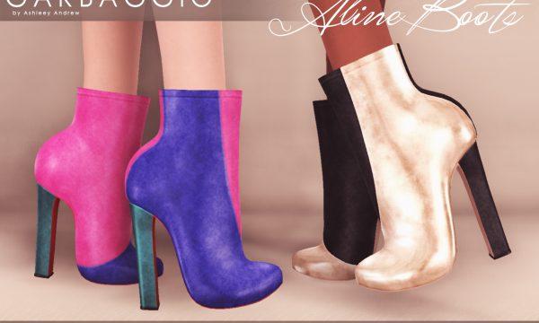 Garbaggio - Aline Boots. Individual L$99 | Minipacks L$299 | Fatpack L$499 . Demo Available.