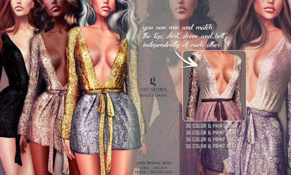 Giz Seorn - Bexley Dress. Individual L$249 each | Fatpack L$1,299. Demo Available ★.