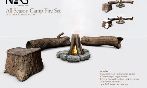 N4RS - Campfire Set. PG L$690 | Adult L$1490 each.
