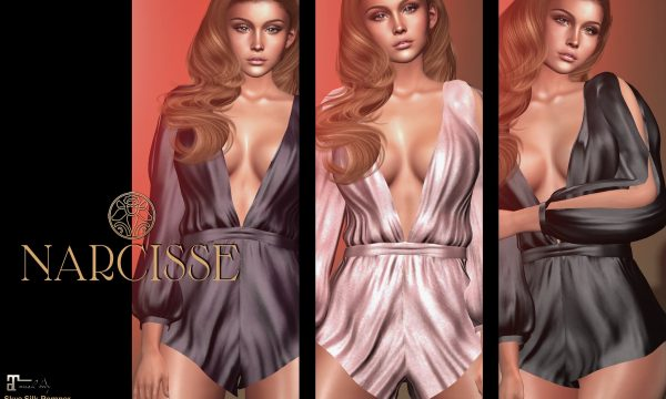 Narcisse - Skye Silk Romper. Individual L$275 each | Fatpack L$1,099. Demo Available ★.