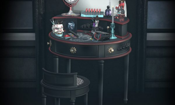 peculiar things - Rockabilly Vanity. Rockabilly Vanity L$375 | Decor Pieces L$175 each.
