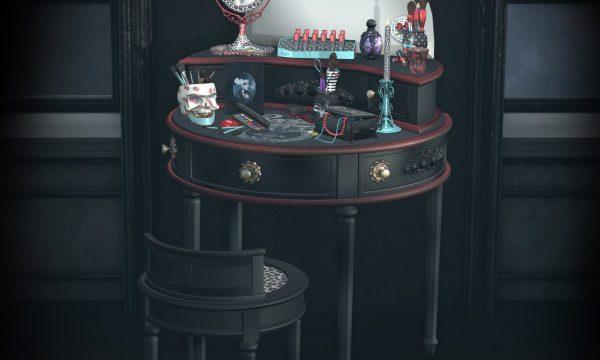 peculiar things - Rockabilly Vanity. Rockabilly Vanity L$375 | Decor Pieces L$175 each.