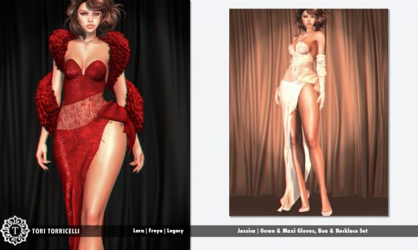 TORI TORRICELLI - Jessica Gown. Individual L$299 - L$349 each | Fatpacks L$1,299 - L$1,399 each  Demo Available ★.