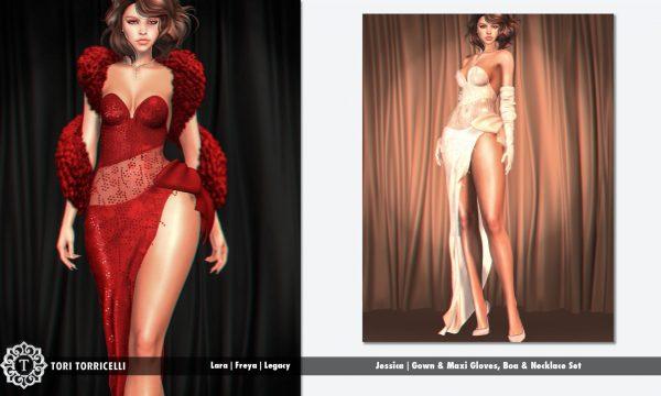 TORI TORRICELLI - Jessica Gown. Individual L$299 - L$349 each | Fatpacks L$1,299 - L$1,399 each  Demo Available ★.