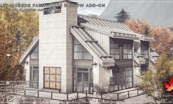 Trompe Loeil - Daley Modern Farmhouse & Snow Add-on. L$625 | Snow Add-on L$100.
