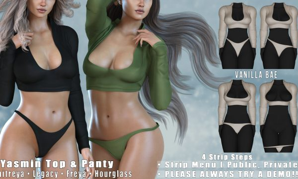 Vanilla Bae - Yasmin Top & Panty. Minipacks L$399 each | Fatpack L$999. Demo Available.