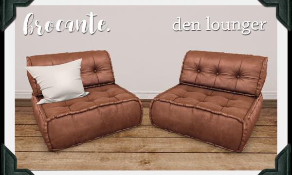 brocante. - Den Lounger. Individual L$225 | Fatpack L$349.