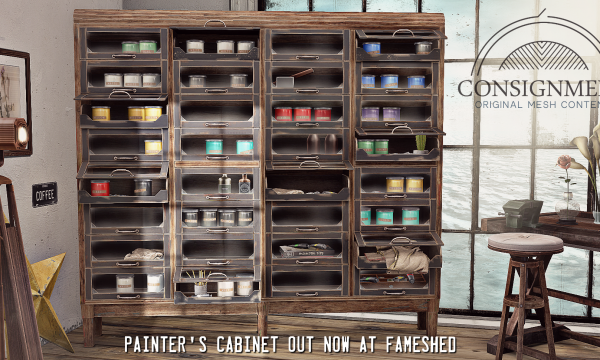 Consignment -  Painters Cabinet. L$285 each.