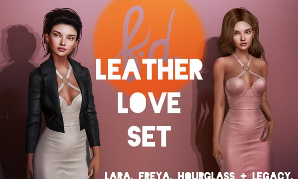 Fashionably Dead - Leather Love Dress & Jacket. Individual L$199 each . Demo Available ★.