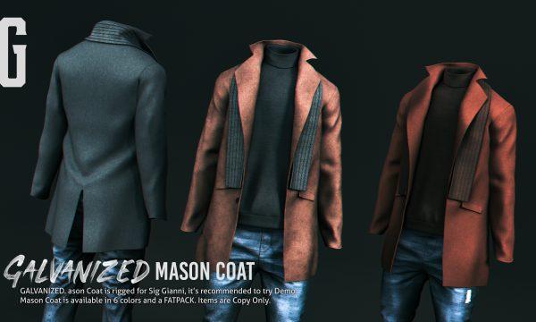 GALVANIZED. - Mason Coat. Individual L$299 | Fatpack L$999. Demo Available.