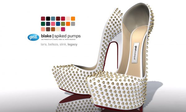 Gos Boutique - Blake Spiked Pumps. Individual L$295 | Boutique Pack L$1,295. Demo Available ★.