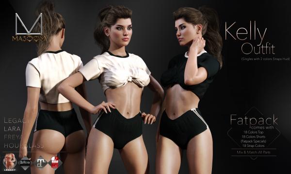 [[ Masoom ]] - Kelly Top & Shorts. Individual L$255 | Minipacks L$555 | Fatpacks L$1555. Demo Available.
