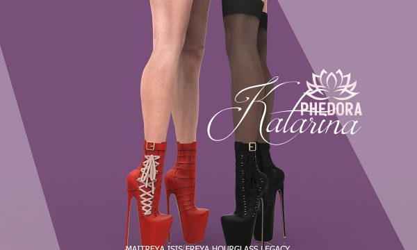 phedora - Katarina Ankle Boots. Minipacks L$299 - L$499 | Fatpack L$699. Demo Available.