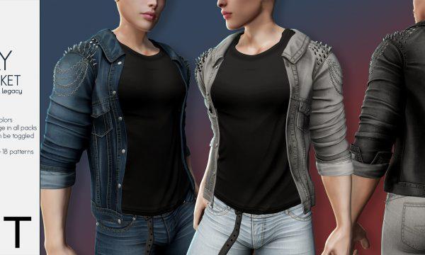RIOT - Helena Denim Jacket & Henry Denim Jacket. Individual L$199 | Fatpack L$1299. Demo Available.
