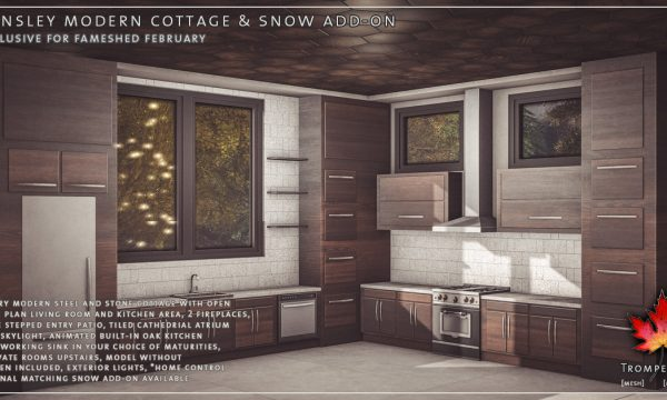 Trompe Loeil - Hensley Modern Cottage. PG L$650 | Adult L$850.