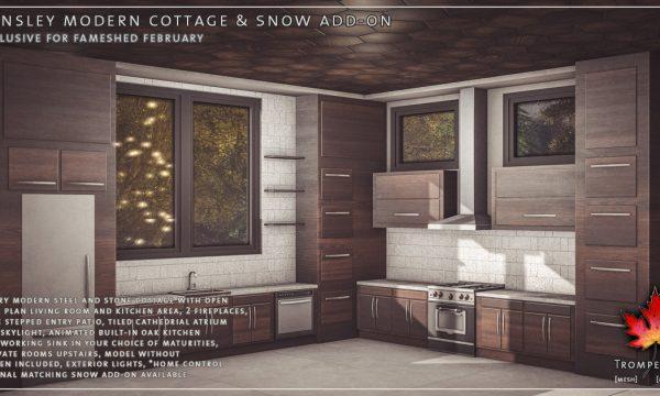 Trompe Loeil - Hensley Modern Cottage. PG L$650 | Adult L$850.