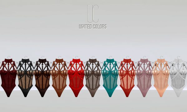 United Colors - Kaia bodysuit. Individual L$349 each | Fatpack L$2,699 Demo Available.