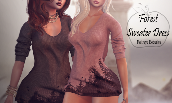 Apple May Designs - Forest Sweater Dress. Individual L$225 | Fatpack L$990 Demo Available.